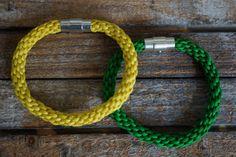 Green Bracelet Kumihimo Braided Bracelet Kumihimo by fanfarria