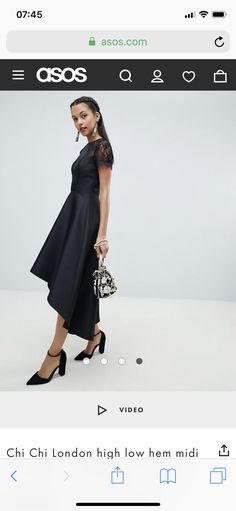 Asos, Black And White Shirt, Chi Chi, High Low, Shirts, Dresses, Fashion, Vestidos, Moda