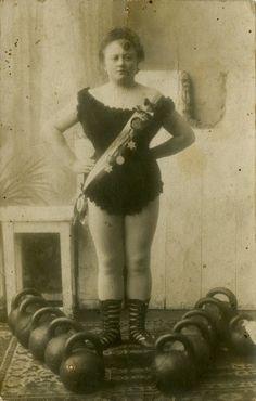 Female wrestler