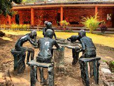 Sculptures at Charukola- Institute of Fine Arts- University of Dhaka
