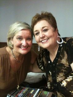 Ann Downing and myself. Ann appears on all of the Bill Gaither videos and has sung Gospel music for many years. We're both singers and songwriters. One of us is famous and one is not? Guess which one is the famous one? This probably won't be hard for anyone to figure out.