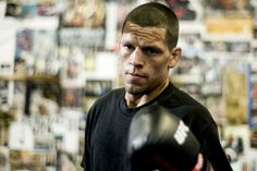 Nate Diaz is the lesser-known of the two Diaz brothers to some MMA fans. But the UFC lightweight contender is much more than just a shadow of his older brother. Nick And Nate Diaz, Kron Gracie, Diaz Brothers, Jim Miller, Mma T Shirts, Dana White, Ufc Fighters, Mma Boxing, Brazilian Jiu Jitsu