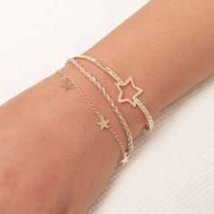 Dainty Gold Bracelet Tiny Star Bracelet  Layered Friendship