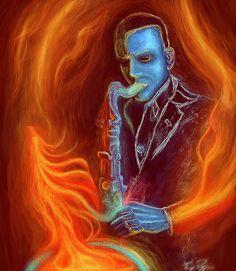 John Coltrane - Digital Painting