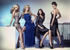 Fashion Photo Of Four Attractive Female Models Stock Photo, Picture And Royalty Free Image. Image Fashion, Fashion Photo, Fashion Models, Fashion Brands, Style Fashion, Dame Chic, Classy Bachelorette Party, Fashion Week 2018, Mode Shop