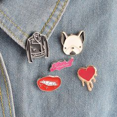 1 Pcs Cartoon Moon Melody Metal Badge Brooch Button Pins Denim Jacket Pin Jewelry Decoration Badge For Clothes Lapel Pins Pretty And Colorful Arts,crafts & Sewing