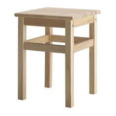 ODDVAR Stool IKEA Solid wood, a hardwearing natural material that can be sanded and surface treated if required.