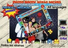 Superhéroes Photocall, archivo digital, Bebés superhéroes Baby Superhero, Superhero Birthday Party, Boy Birthday Parties, Costco, Superhero Party Supplies, Sign Printing, Party Printables, Creative Art, Photo Booth