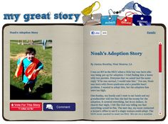 Check out the October 2012 My Great Story of the Month Contest winner Noah's Adoption Story by Jessica Brantley, West Monroe, LA. Share your story at ndss.org/stories!