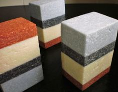 Savons et Fantaisies: Salt bars (those layers are so straight!)