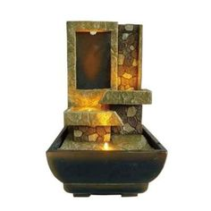 Indoor fountains  - Pin it :-) Follow us, CLICK IMAGE TWICE for Pricing and Info . SEE A LARGER SELECTION of indoor fountains at http://azgiftideas.com/product-category/indoor-fountain/  - gift ideas , home decor   -  9'' H Table Top Stoney Led Fountain