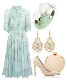 A fashion look from July 2017 featuring green dress, nude pumps and gold clutches. Browse and shop related looks. Elegant Outfit, Classy Dress, Classy Outfits, Stylish Outfits, Stylish Dresses, Modest Dresses, Summer Dresses, Strapless Dress, Dress Outfits