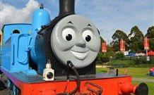 Meet the full-sized Thomas the Tank Engine, and Friends, at Trainworks. Take a genuine steam train ride from Sodor Island Railway Station pulled by Henry.  See Thomas movie station, jumping castles, inflatable slide, face painting, story telling, and photo opportunities with Thomas. Sydney, Australia.