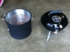Weber Mini Smokey Mountian Cooker disassembled and turned back into a Smokey Joe Gold. Great little DIY smoker project.