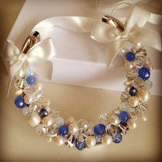 Wonderful bridal horseshoe now in stock, perfect for your something blue x #vintage #horseshoe #bridalhorseshoe