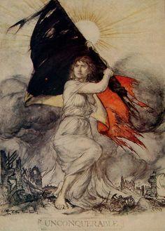 Unconquerable by Arthur Rackham, 1914