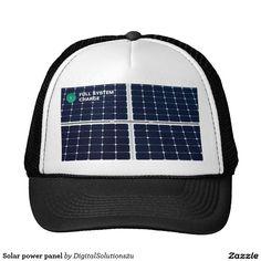 Solar power panel trucker hat - http://WeBuySemiTrailers.com
