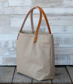 Bolsos de lona -  Bolso shopping bag - Arena - Maxibolso - hecho a mano por LoLahn-Handmade en DaWanda