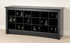 Amazon.com: Furniture Shoe Storage Cubby Entryway Bench