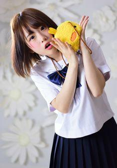 天瀬音羽 School Girl Japan, Japan Girl, Cute Asian Girls, Beautiful Asian Girls, Kawaii Girl, Anime, Cosplay, Japanese, Japanese Girl