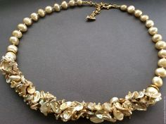 Necklace GOLD pearl – shop online on Livemaster with shipping - CA72TCOM
