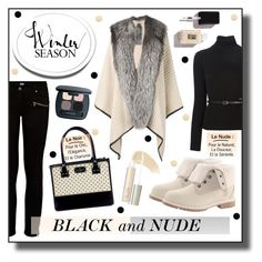 """""""in Black and Nude"""" by drinouchou ❤ liked on Polyvore featuring Paige Denim, Mr & Mrs Italy, Timberland, Dsquared2, Kate Spade, Bare Escentuals, Ilia, Jin Soon, JINsoon and women's clothing"""