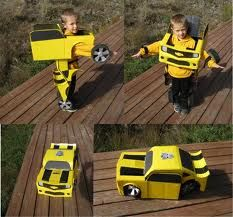 I love Halloween. And before I had kids, I loved to make my own Halloween costumes. I'd love nothing more than to make costumes for my kids this year. Well, there are a few other things I would love more, but I really do wish I had the time to make Transformer Halloween Costume, Car Costume, Diy Halloween, Looks Halloween, Transformer Birthday, Transformers Bumblebee, Holidays Halloween, Halloween Costumes For Kids, Homemade Costumes