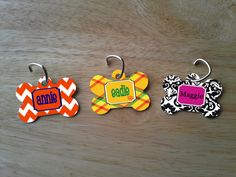 Personalized Bone Shaped Pet Tag With Your by PremiumCustomGifts