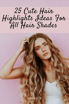 25 Cute Hair Highlights Ideas For All Hair Shades Brunette With Blonde Highlights, Red Hair With Highlights, Dark Brunette Hair, Blonde Hair Care, Diy Hair Care, Hair Care Tips, Travel Hairstyles, Cute Hairstyles, Hair Starting