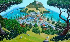 My maunganui by Time Rannali Golf Courses, Painted Walls, Artist, Modern, Painting, Inspiration, Image, Drawings, Biblical Inspiration
