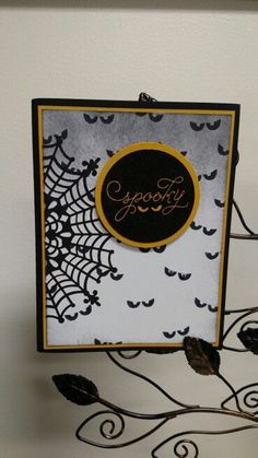 Stampin' Up! Among the Branches Homemade Halloween, Halloween Projects, Halloween Cards, Holidays Halloween, Halloween Greetings, Fall Cards, Holiday Cards, Hand Made Greeting Cards, Thanksgiving Cards