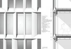 Architecture Graphics, Architecture Office, Architecture Details, Curtain Wall Detail, Window Detail, Maine, Metal Cladding, Container Architecture, Frankfurt