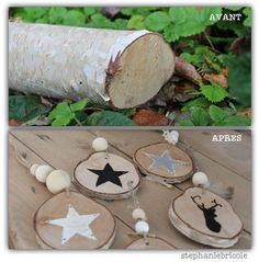 Christmas Gift Ideas 2019 : DIY christmas decoration with branches – Stéphanie bricole Diy Christmas Decorations For Home, Diy Christmas Ornaments, Christmas Time, Xmas, Deco Noel Nature, Succulent Garden Diy Indoor, Natal Diy, Navidad Diy, Diy Hacks