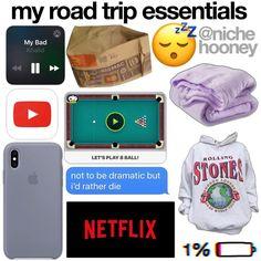 Travel Hacks For Girls Tips Travel Packing Checklist, Travel Bag Essentials, Road Trip Packing, My Road Trip, Travel Necessities, Holiday Essentials, Road Trip Essentials, Vacation Packing, Road Trip Hacks