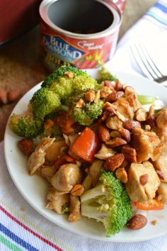 Slow Cooker Honey Sriracha Chicken Stir Fry Recipe - a fast, fresh, healthy crock pot dinner idea!