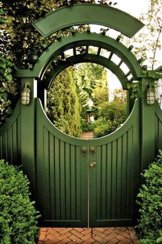 moon gate entrance to Ralph Lauren