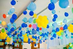 Adam's Emoji-fied Themed Party – Ceiling Emoji Theme Party, Party Themes, Party Ideas, Adam S, Different Games, Kid Table, Heart For Kids, 1st Birthdays, Balloon Decorations
