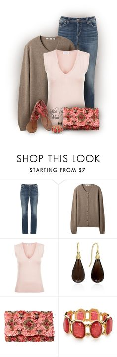 """Spring Days + Sweater (4.2.17)"" by stylesbymimi ❤ liked on Polyvore featuring Silver Jeans Co., Uniqlo, Effy Jewelry, Oscar de la Renta and Kim Rogers"