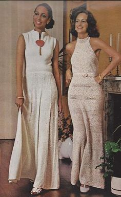 Vintage Knitting Crochet Pattern McCall's Magazine Women's Long Evening Gowns | eBay