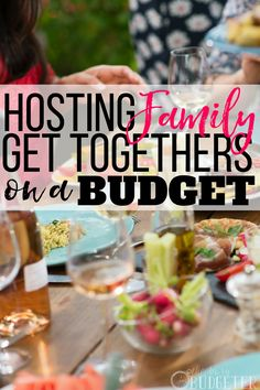 Every year MY home is where we host family get-togethers and I'm always worried about sticking to a budget. These are great budget party tips! Definitely save this post if you want to throw a fun family party for LESS! Money saving tips for moms. Living On A Budget, Family Budget, Frugal Living Tips, Frugal Tips, Family Bbq, Family Reunions, Family Life, Family Gatherings, Family Get Together