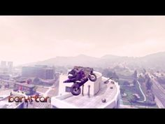 Gravity-Defying Motorcycle Tricks Performed in the Video Game 'Grand Theft Auto V'