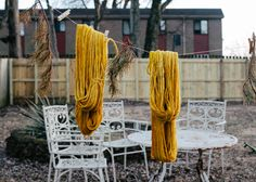 Dying wool with turmeric -- Rebekka from Camellia Fiber Company