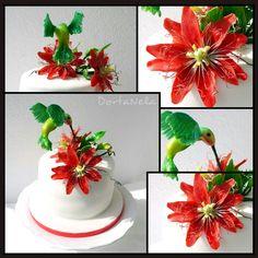 HUMMINGBIRD AND PASSION FLOWER (Kolibřík a červená mučenka)