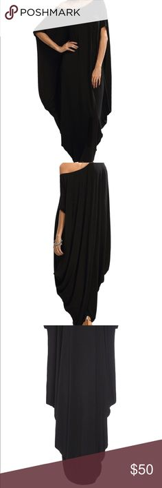 Boho Off Shoulder Caftan Sleeve Harem Maxi Dress New. Dresses One Shoulder