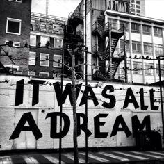 It was all a dream.
