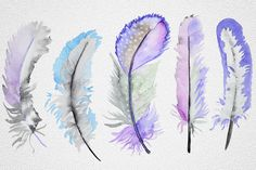 Feather by IvanFet on Watercolor Feather, Butterfly Watercolor, Watercolor Pattern, Abstract Watercolor, Tribal Feather, Feather Art, Owl Canvas, Art Themes, Photo Craft