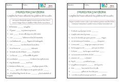 www.aulapt.org : Palabras perdidas, actividades de comprensión lectora.