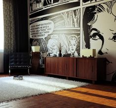 Comic Strip / Pop-Art Wallpaper - perhaps for a games room..