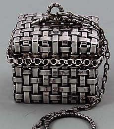 Sterling Basket Weave Tea Ball