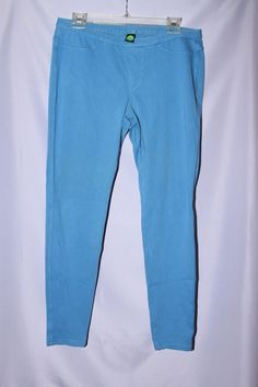 e8d4b1aa3160c Hue Jeggings Blue Woman Size L #fashion #clothing #shoes #accessories  #womensclothing